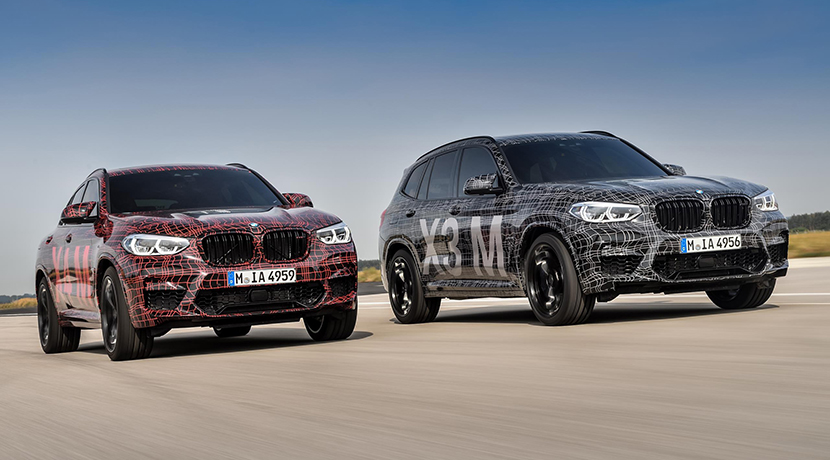 BMW X3 M and BMW X4 M front